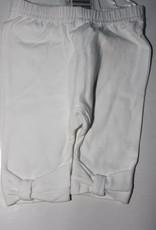 Dirkje Dirkje legging wit met vast strikje onderaan
