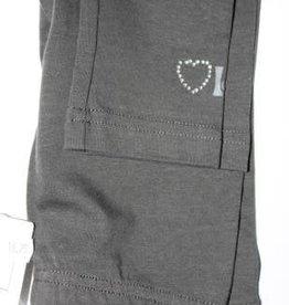 Lofff Lofff Legging d.grijs met stras hartje