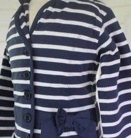 Dirkje Dirkje Blazer bretonse strepen blauw/wit van tricot