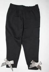 Blue Seven Legging zwart met grijs satijnen strik