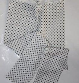 Bampidano Legging wit met zilver en hartjes