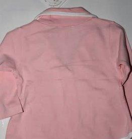 Dirkje Dirkje blazertje roze van tricot met witte bies
