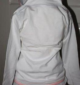Dirkje Dirkje blazertje wit van tricot met licht roze bies