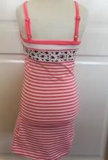 Bampidano Jurk roze wit gestreept