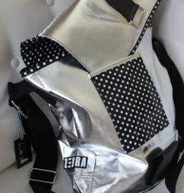 Zebra Zebra Tas zilver / zwart met witte stippen