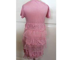 Licht Roze Jurk : Dj dj jurkje licht roze met roesels op de rok villa rose