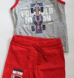 IDO IDO Set broekje rood en hemdje