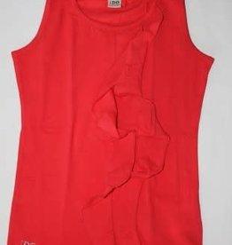 IDO IDO Shirt coraal mouwloos met sjerp op het voorpand