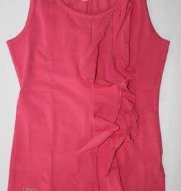 IDO IDO Shirt hard roze mouwloos met sjerp op het voorpand