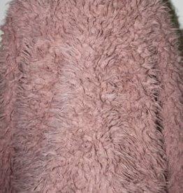 Creamie Creamie Vest oud roze gevoerd in warme dikke harige stof