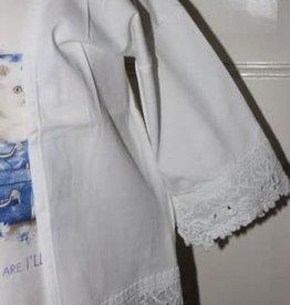 Mayoral Mayoral  hemdje wit met blauwe print poes