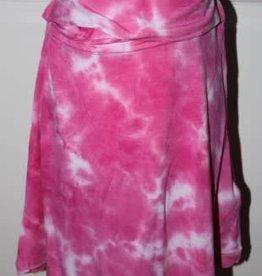 Blue Seven Rok hard roze met wit en breed elastisch boord