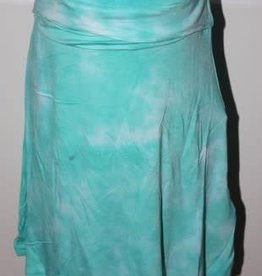 Blue Seven Rok aqua met wit en breed elastisch boord