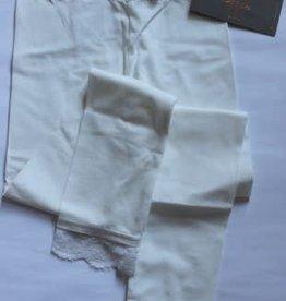Creamie Legging off white met kanten rand