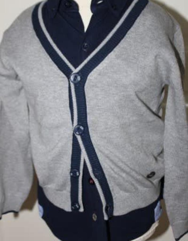 Boboli Boboli Vest donker grijs met donker blauw
