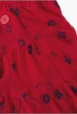 Boboli Boboli Rok roos met donkerblauwe letters