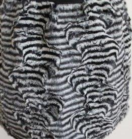 Rumble Rumbl Rok met panterprint zwart/grijs in bont met elastiche boord