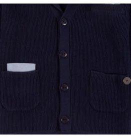 Boboli Boboli Vest donker blauw gebreid met zakjes