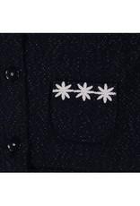 Boboli Boboli Blazer donkerblauw met margerietjes langs de hals