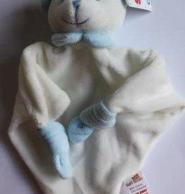 Knuffel Beertje licht blauw van zachte fluwele stof