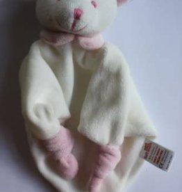 Knuffel Beertje roze van zachte fluwele stof
