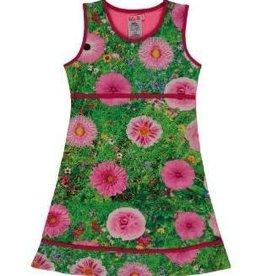 Lofff Lofff Jurk groen met roze  bloemen