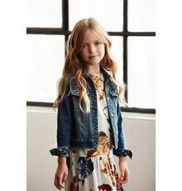 Creamie Creamie jurkje lichtblauw met bloemen pracht van soepel tricot