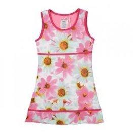 Lofff Lofff Jurk Roze FLOWERvan tricot