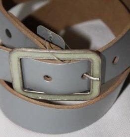 Oxxy Oxxy Riem licht grijs met vierkanten glitter gesp