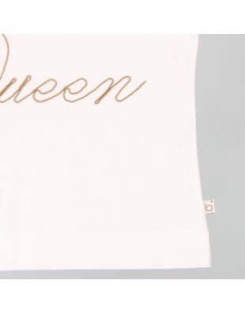 Boboli Boboli Shirt off white The Queen met goudkleurige letters