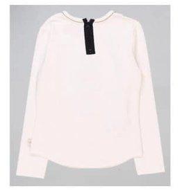 Boboli Boboli Shirt off white The Queen met zwarte rits op achterpand