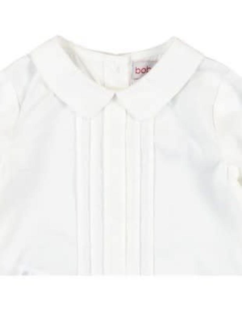 Boboli Boboli Blousje off white met geplooid voorpand