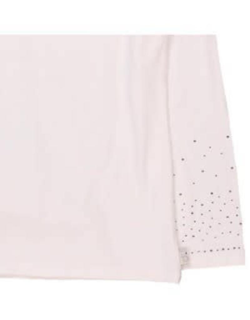 Boboli Boboli Shirt off white met glitter steentjes