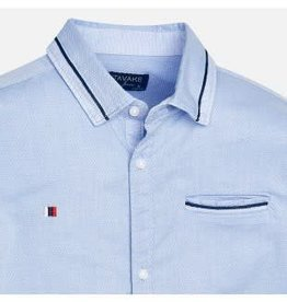 Mayoral Mayoral Overhemd lichtblauw met wit en donkerblauw