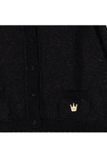 Boboli Boboli Vestje gebreid zwart met zilverdraad