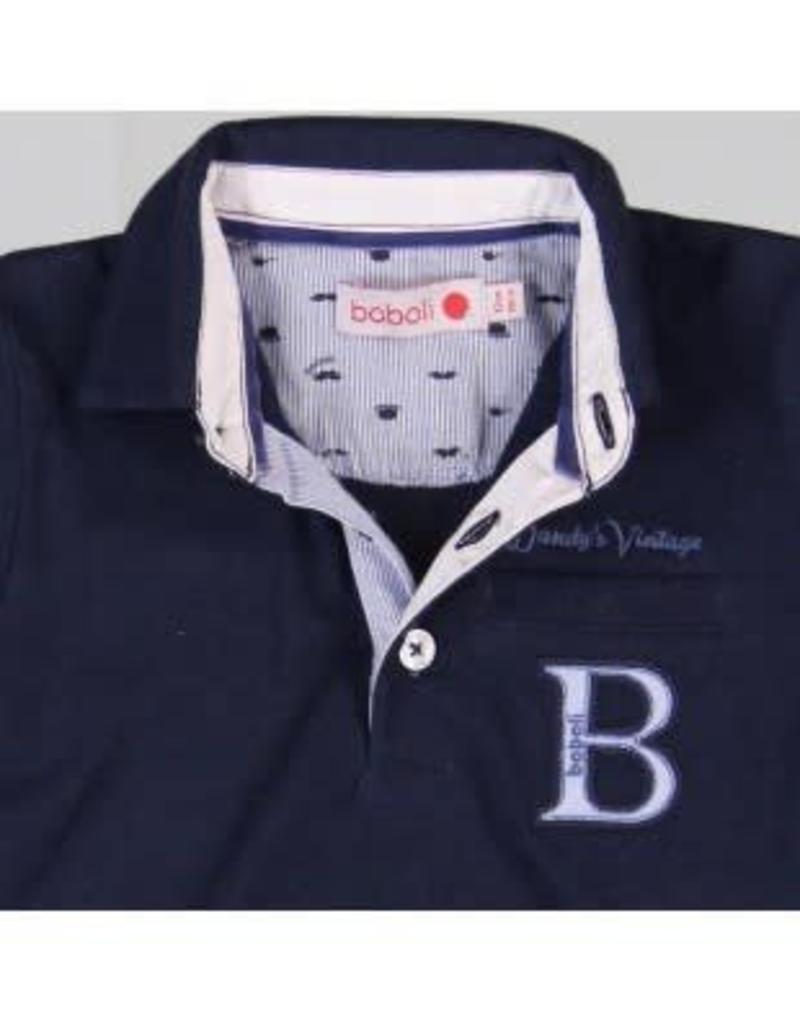 Boboli Boboli Polo donkerblauw met wit overhemd rand langs pand 2