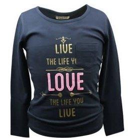 DJ DJ Shirt zwart met gouden en roze opdruk