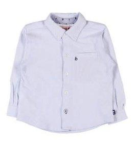 Boboli Boboli Overhemd licht blauw met witte manchetten