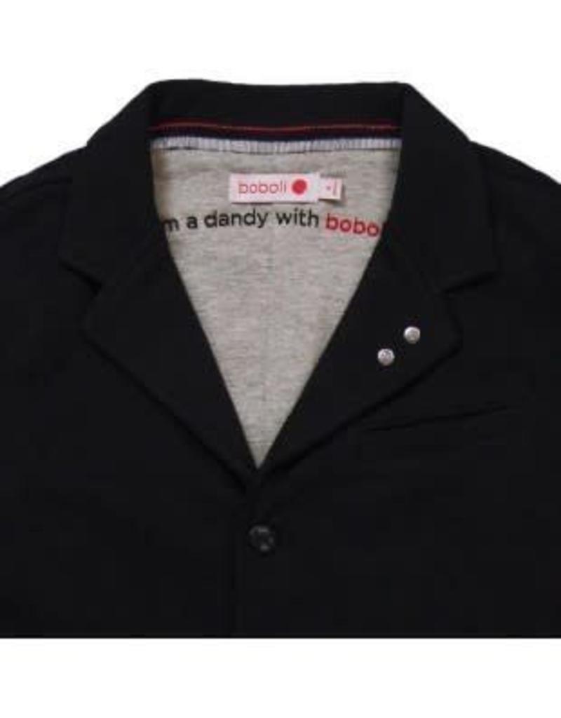 Boboli blazer zwart van soepel tricot