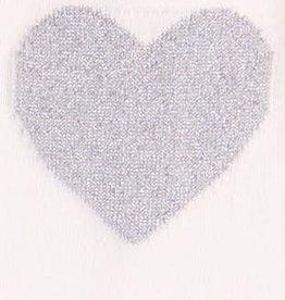 Boboli Boboli Jurkje off white met zilveren hartjes