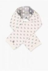 Boboli Sjaal off white met zilveren hartjes