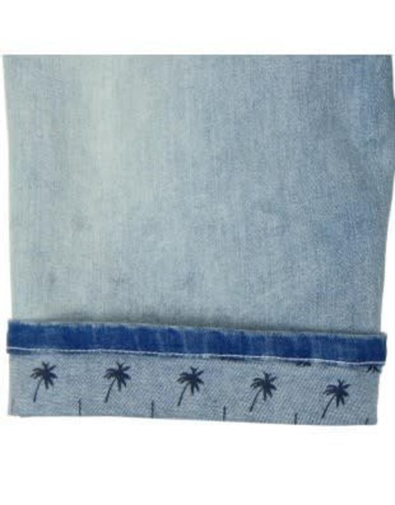 Boboli Boboli Spijkerbroek licht blauw kort verstelbaar in de taille