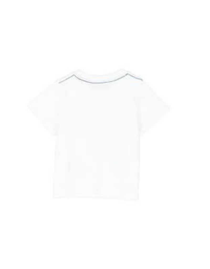 Boboli Boboli Shirt wit met bootjes