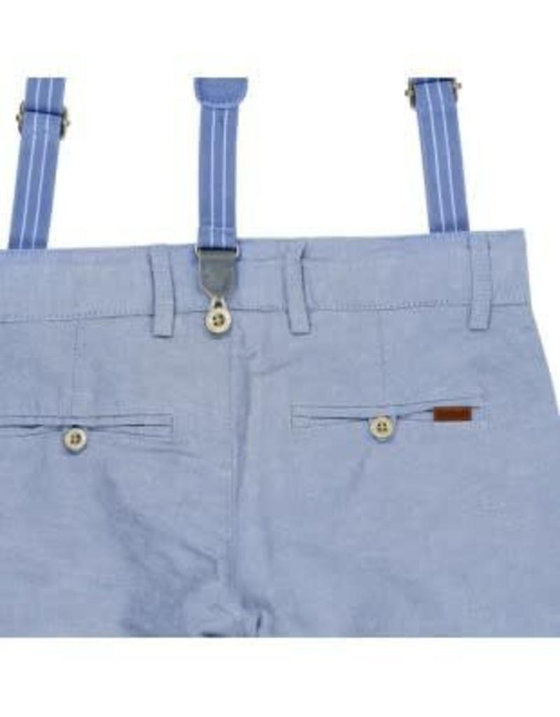 Boboli Boboli Broek lichtblauw met bretels