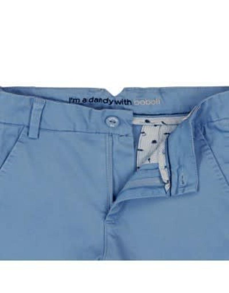 Boboli Boboli Broek licht blauw kort en verstelbaar in de taille