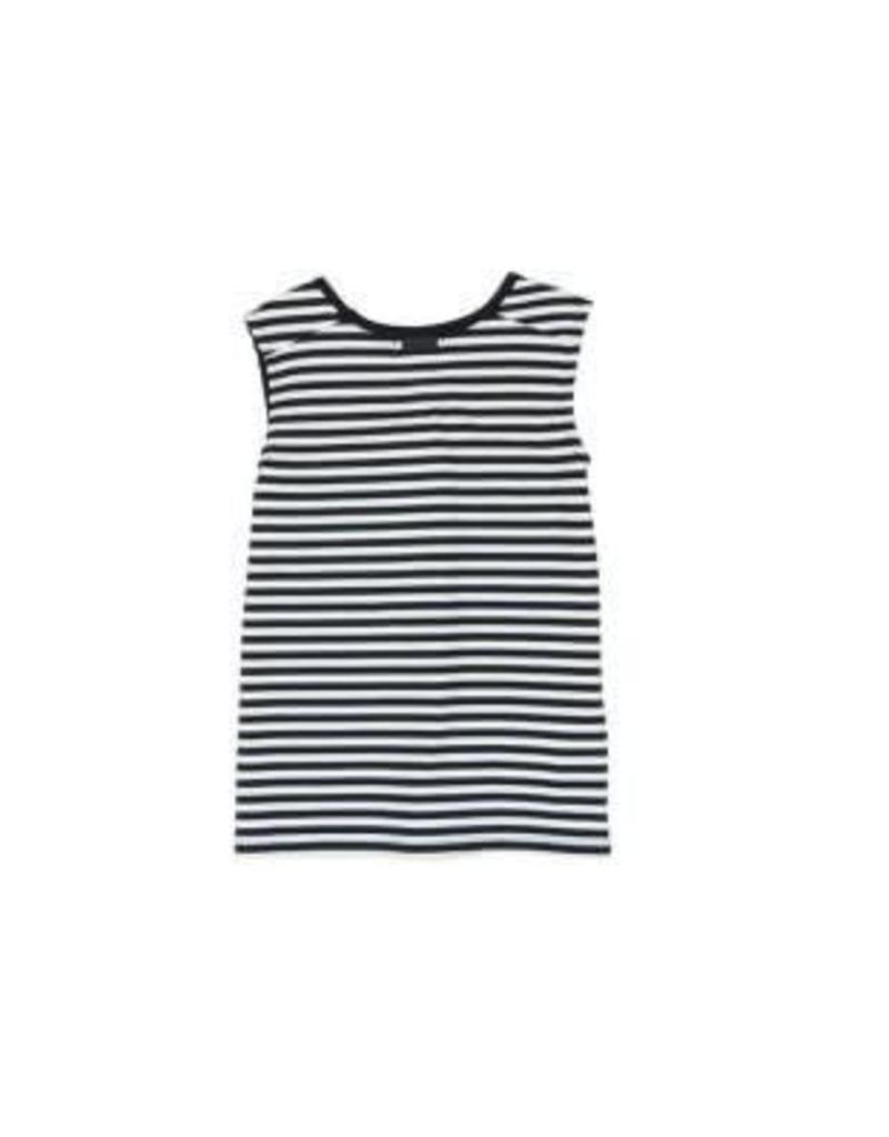 Boboli Boboli Shirt zwart wit gestreept met magie letters