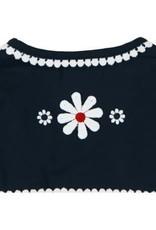 Boboli Boboli Jasje donkerblauw met geboorduurde bloemen