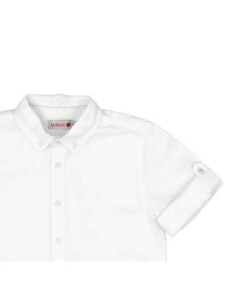 Boboli Boboli Overhemd linnen wit