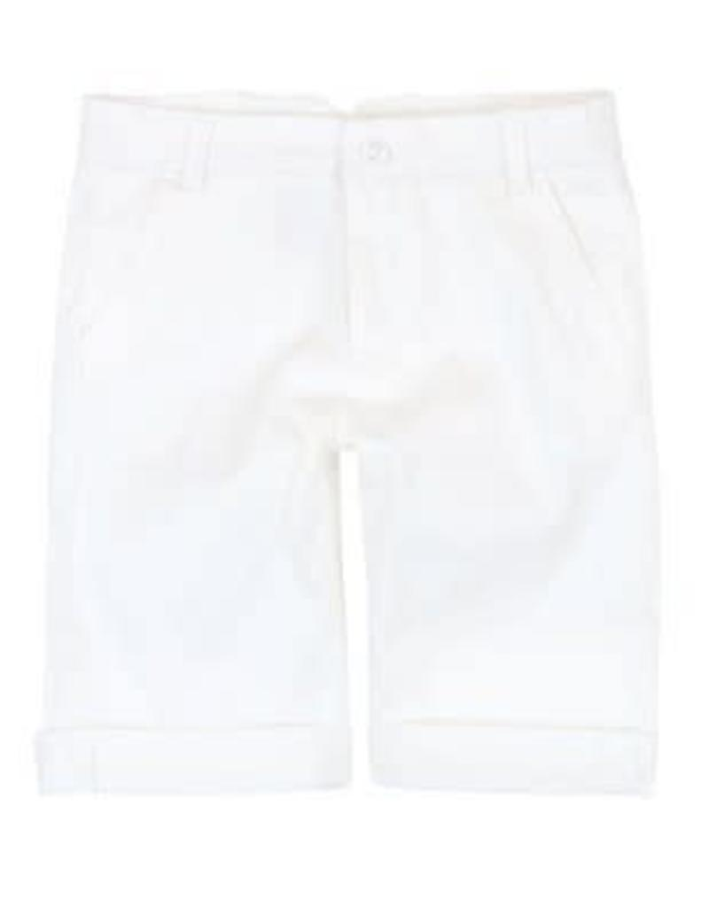 Boboli Boboli Broek wit kort verstelbaar in de taille