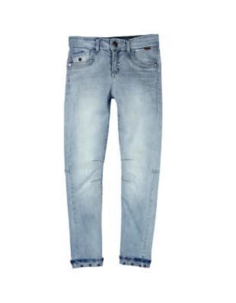 Boboli Boboli Spijkerbroek blauw verstelbaar in de taille